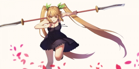 girl with tails Anime twin