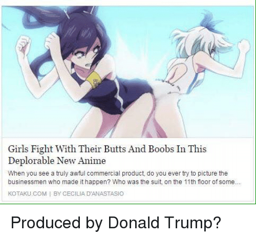 soma and anime Boob fighting with