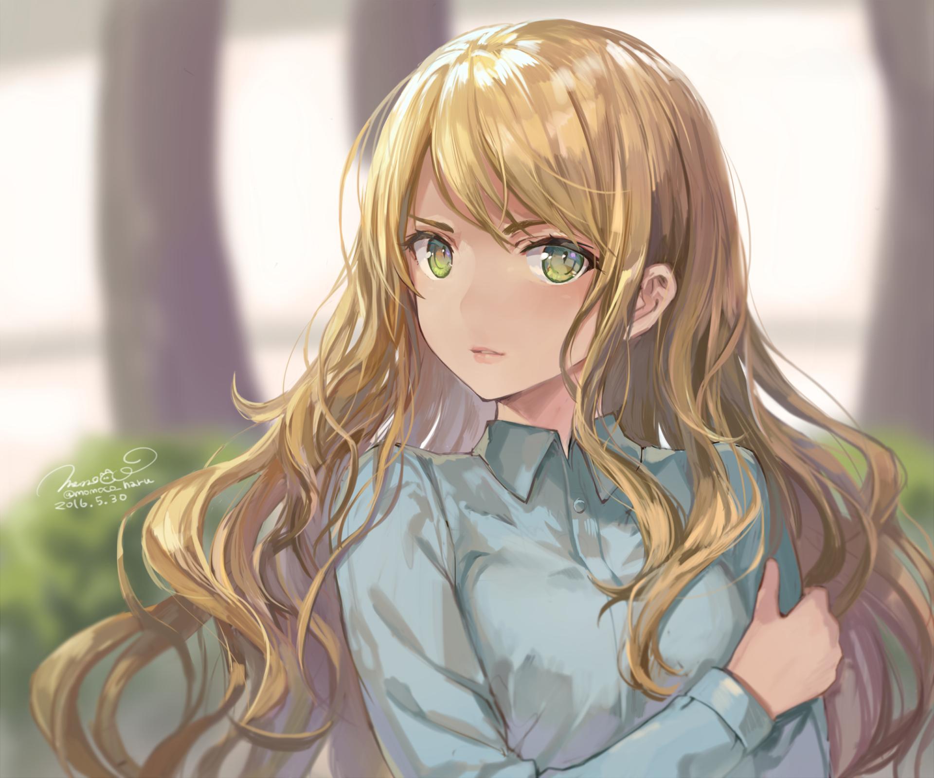 haired anime girls Blonde