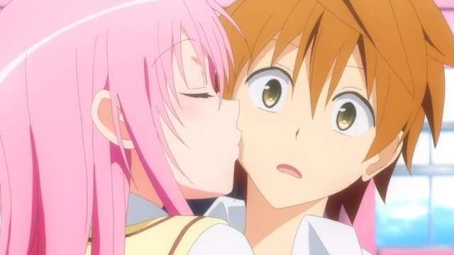 love anime kiss To ru